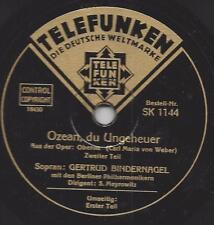 Sopran Gertrud Binder Clou: l'Océan, tu monstre-selmar Meyrowitz chef d'orchestre