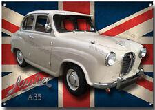 Austin A35 Metal Cartel Vintage Austin coches, Clásico Coches Británicos