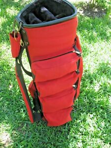 GOLFMATE GOLF CART BAG WITH MULTIPLE ZIPPERED POCKETS / COMPARTMENTS/HEAD COVER