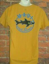 MENS MAUI AND SONS SHARK MUSTARD T-SHIRT SIZE L