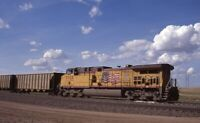 UP UNION PACIFIC Railroad Train Locomotive 5928 Original Photo Slide