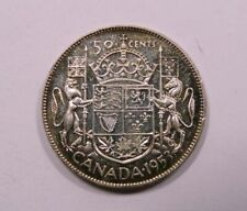 Canada Queen Elizabeth II Silver 50 Cents 1953 NSF Small Date SCARCE Proof Like