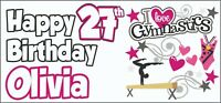 Gymnastics 27th Birthday Banner x2 Party Decoration Ladies ANY NAME