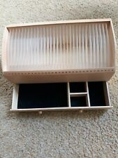 Desktop Shaker Style Wooden Organizer Mail Bills CD DVD Caddy Holder 2 Drawers