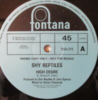 "SHY REPTILES - High Desire ~ 12"" Single PROMO"