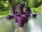 set 4 LATTE bistro MUG CUP mulberry purple FIESTA WARE 18 OZ new