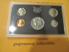 1969 US Coin Proof Set 5 Coin Set 40% Silver Kennedy Half BirthYear Free Ship 09