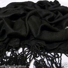 Plain Pashmina Scarf Shawl Stole Wrap High Quality Many Colours 100% Viscose UK