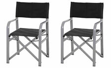2x Kettler Director's Chair Anthracite Folding Garden Camp Fisher´S Stool