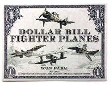 Dollar Bill Fighter Planes Kit w/ Book & practice currency NIB