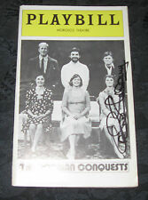 Playbill THE NORMAN CONQUESTS signed by Carole Shelley, Morosco Theatre, 1976