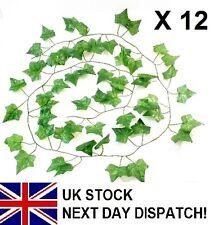 6ft IVY Artificial Trailing GARLAND GREEN X 12 pcs Ivy Leaf Fern Foliage Plant