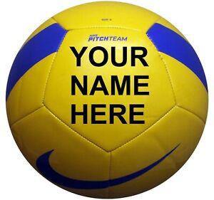 Personalised nike team pitch football Yellow Green Orange White PROSPO