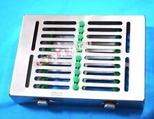 German Dental Autoclave Sterilization Cassette Rack Tray For 10 Instrument Green