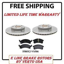 Front Brake Rotors+Semi Metallic Pads For Buick, Chevrolet,Oldsmobile, Pontiac