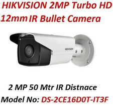 HIKVISION 2MP 12mm Turbo HD IR Bullet CCTV Camera (2 Yrs Manufacturer Warranty)