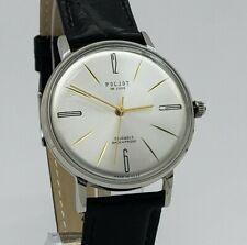 Poljot De Luxe ULTRA SLIM Dress Men's Mechanical WristWatch Vintage Style USSR
