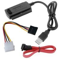 SATA/PATA/IDE to USB 2.0 Adapter Converter Cable for 2.5/3.5 Inch Hard Drive LJ