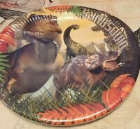 8 Dinosaur Party Plates. T-Rex. Triceratops. Dino. 23cm. New