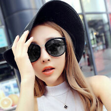 Retro Unisex Aviator Sunglasses Mirror Glasses UV400 Protection Eyewear Black