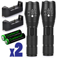 Tactical 700000Lumens T6 LED 5 Modes 18650 Police Flashlight Zoomable Lamp Torch
