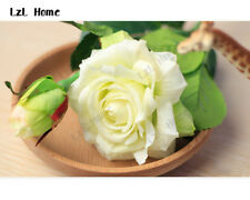 Real Touch Latex Rose Artificial Flowers Wedding Bouquet Red Christmas Decor DIY