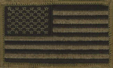 """P-  US Subdued Military Green Flag Patch - 2"""" x 3 1/4"""""""