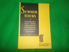 Summer Tour 1933 Yellowstone Zion Bryce Grand Canyon Rocky Mountain travel guide
