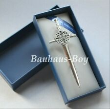 KILT PIN PEWTER CELTIC CLAYMORE KNOTWORK MADE IN SCOTLAND NEW Sgian Dubh Company