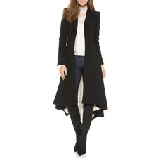 PLUS Retro Victorian Women Steampunk Swallow Tail Goth Long Trench Coat Jacket