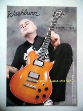 PUBLICITE-ADVERTISING :  Guitare WASHBURN Wi68  12/2005 Cédric,Life Kit