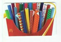 McDonalds Gift Card - Wrapping Paper in French Fries Holder - 2011 - No Value
