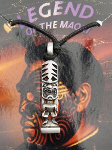 Pendant Maori Hey Tiki Tribal Ethnic IN Pewter Protection AD1B 2650
