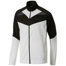 Puma Men's Long Sleeve Iconic Tricot Track Jacket Black/Forest Night Size M