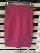 Ladies Venus Maroon Small Fitted Straight Pencil Skirt Career Sexy Stretch