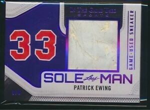 2020 Leaf In the Game Used Sole Man Sneaker Jumbo Relic Patrick Ewing 8/9 Knicks