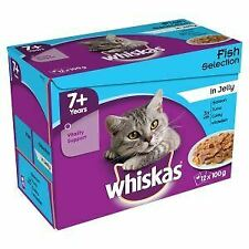 Whiskas 7+ Cat Pouch Fish Selection in Jelly (12Pk) - 19349
