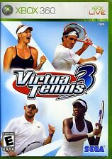 Virtua Tennis 3 Microsoft Xbox 360 Video Game 2007 by SEGA NIB NIP Federer Nadal