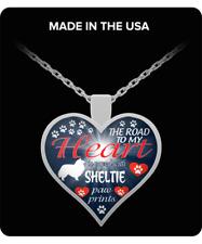 Sheltie dog,Sable,Shetland Sheepdog,Shetland Collie,Gift,Heart Pendant Necklace