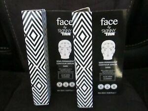 2 x 20ml Face BY Skinny Tan Contouring Serum DARK Fake Tan