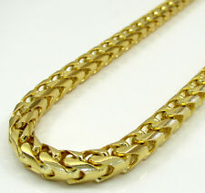 "26"" Inch 5mm 91 Grams 10k Yellow Gold Franco Snake Box Cuban Chain Necklace Mens"