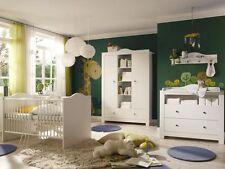 Babyzimmer Lucca 2 Weiss/Weiss 5 tlg. Kinderzimmer komplett Babyzimmer komplett