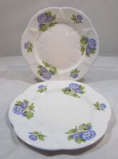 Superb Pair of Vintage Shelley 20.5cm Plates Morning Glory 13885, Dainty Shape