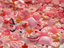 BULK BUY! 20pcs Mixed Baby Pink Sweet Treat Cakes Cookies Flatback Decoden Kit