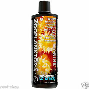 Brightwell Zooplanktos-S 500 mL Liquid Coral Food Zooplankton for Filter Feeders