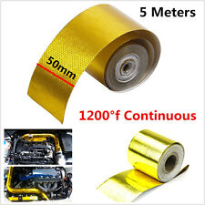 """Gold 2""""x200"""" 1200°f Continuous Reflective High Temperature Heat Shield Wrap Tape"""