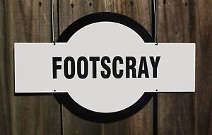 TIN SIGN Footscray Footy Sign, House, Garage, Bar, Nameplate Mancave Gift etc