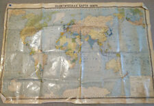 Vintage Soviet School Political World Map USSR Original