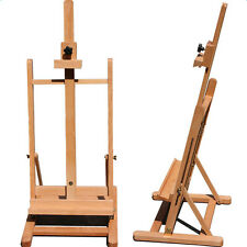 Art Supply Adjustable Easel Beech Tabletop H-Frame Studio Artist Wood Portable