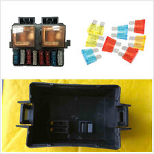 DC12V 2 Way Plastic Black Circuit Car Relay Blade Fuse Box Holder Kits Universal
